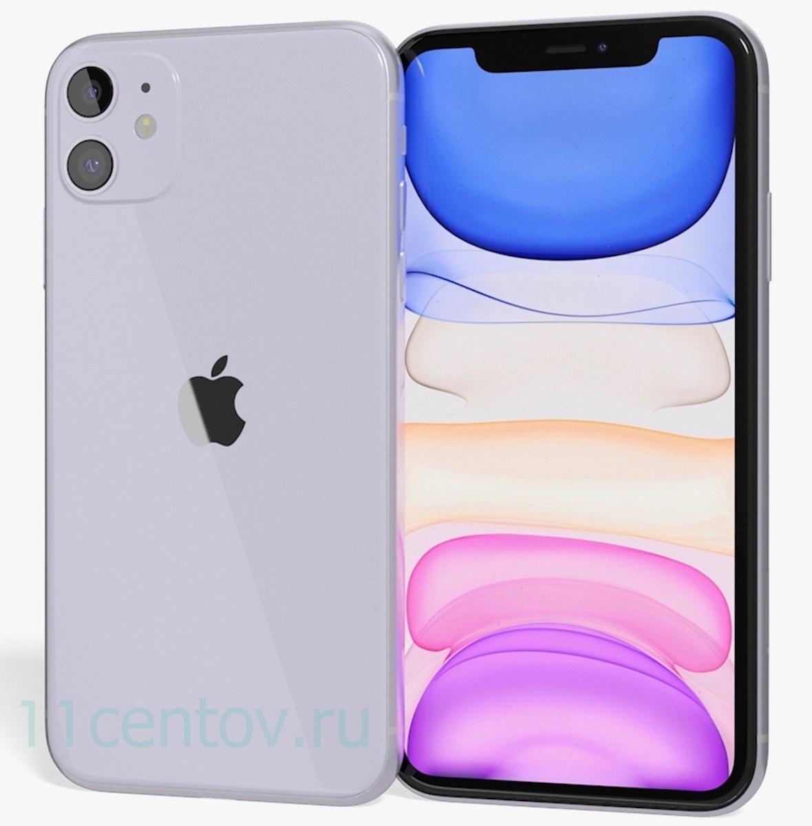 Купить Apple iPhone 11 64gb Фиолетовый (MWLX2RU/A) в интернет-магазине электроники «11 Центов»