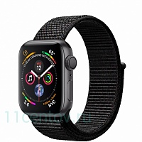 Часы Apple Watch Series 4 40mm Space Gray Aluminum Case with Black Sport Loop (MU672)