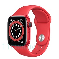Apple Watch Series 6 GPS 40mm Aluminum Case with Sport Band, Red (M00A3RM/A)
