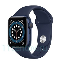 Apple Watch Series 6 GPS 40mm Aluminum Case with Sport Band, Blue (MG143LL/A)