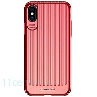 Чехол накладка USAMS Trunk Series для Apple iPhone X/Xs (Red)