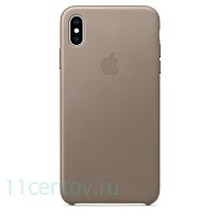 Кожаный чехол Leather Case для iPhone Xs Max - Taupe