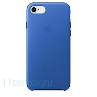 Кожаный чехол Leather Case для iPhone 7/8 - Electric Blue