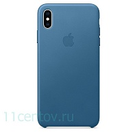Кожаный чехол Leather Case для iPhone Xs Max - Cape Cod Blue