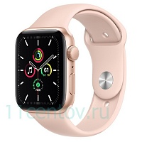 Apple Watch SE 44mm Gold Aluminum Case with Pink Sand Sport Band (MYDR2LL/A)