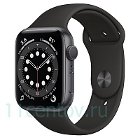Apple Watch Series 6 GPS 44mm Aluminum Case with Sport Band, Black (M00H3RU/A)