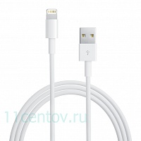 Кабель Apple Lightning to USB Cable 1 m (MD818) белого цвета
