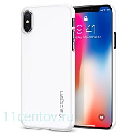 Клип-кейс Spigen для iPhone X Thin Fit, ультра-белый (SGP-057CS22112)