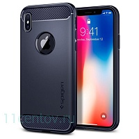 Чехол Spigen для iPhone X Rugged Armor, темно-синий (SPG-057CS22126)