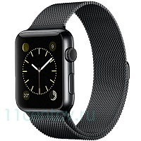Ремешок Milanese Loop для Apple Watch 38/40mm черный