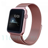 Ремешок Milanese Loop для Apple Watch 42/44mm розовый